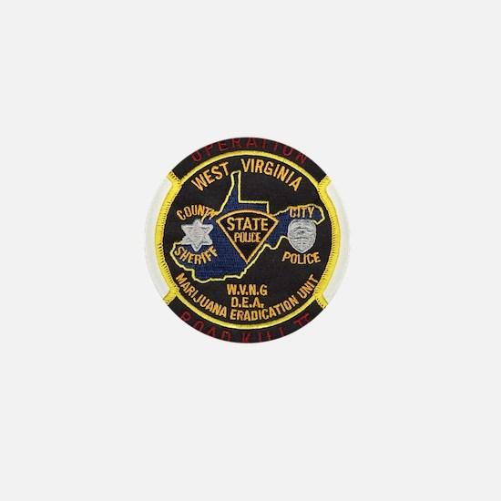 West Virginia Narcs Mini Button