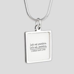 Lets eat grandma. Commas save lives Necklaces