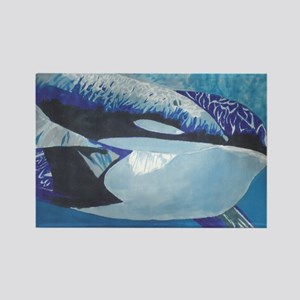 Whales- God's Creatures Rectangle Magnet