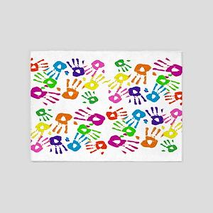 area rug handprints 5'x7'Area Rug