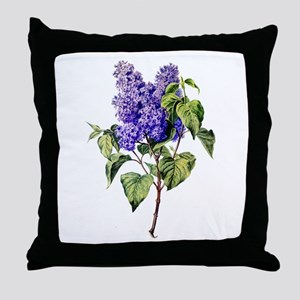 Lilac Drawn From Nature Throw Pillow