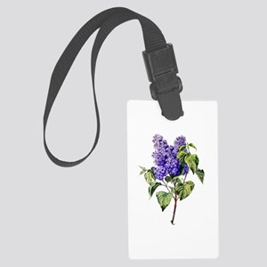 Lilac Drawn From Nature Large Luggage Tag