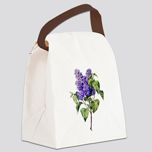 Lilac Drawn From Nature Canvas Lunch Bag