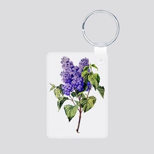 Lilac Drawn From Nature Aluminum Photo Keychain