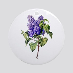 Lilac Drawn From Nature Ornament (Round)