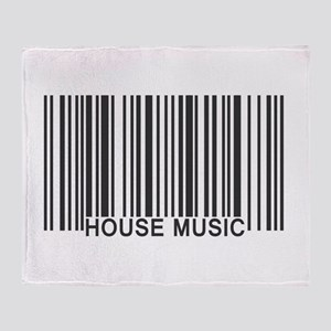 House Music Barcode Throw Blanket
