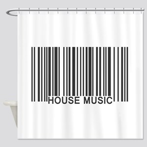House Music Barcode Shower Curtain