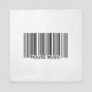 House Music Barcode Queen Duvet