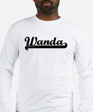 Black jersey: Wanda Long Sleeve T-Shirt