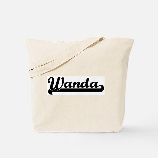 Black jersey: Wanda Tote Bag