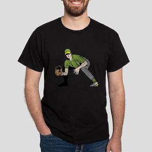 Baseball Infielder Dark T-Shirt