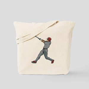 Left Handed Batter Tote Bag