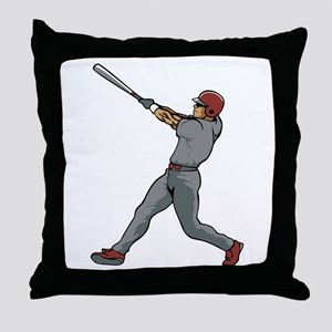 Left Handed Batter Throw Pillow