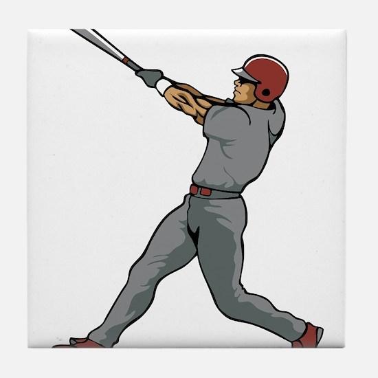 Left Handed Batter Tile Coaster