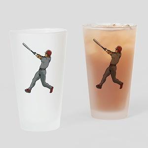 Left Handed Batter Drinking Glass