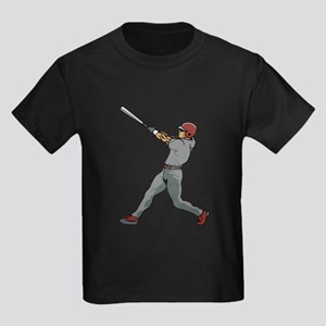 Left Handed Batter Kids Dark T-Shirt