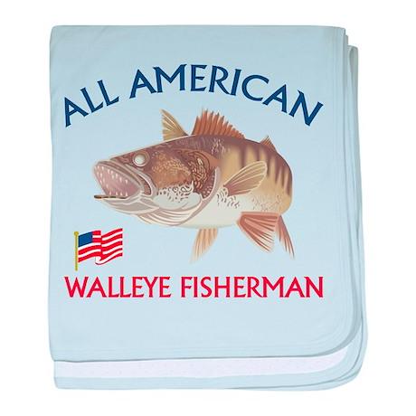 All american Walleye Fisherman baby blanket
