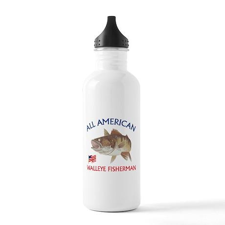 All american Walleye Fisherman Stainless Water Bot