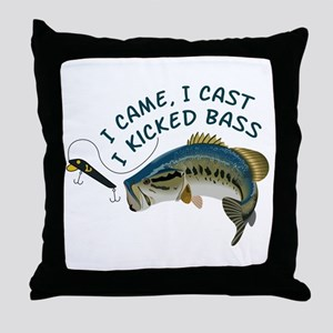 I Kicked Bass Throw Pillow