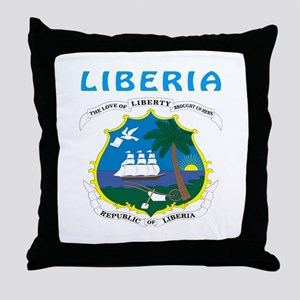 Liberia Coat of arms Throw Pillow