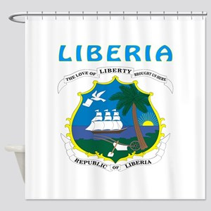 Liberia Coat of arms Shower Curtain