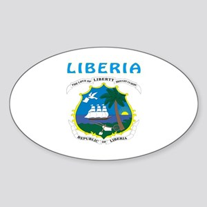 Liberia Coat of arms Sticker (Oval)