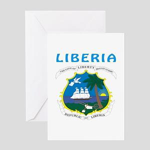 Liberia Coat of arms Greeting Card