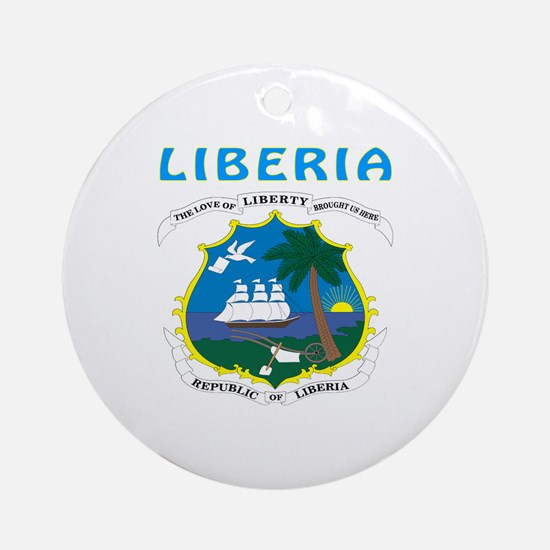 Liberia Coat of arms Ornament (Round)