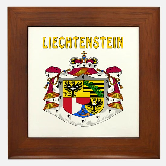 Liechtenstein Coat of arms Framed Tile