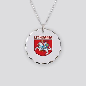 Lithuania Coat of arms Necklace Circle Charm