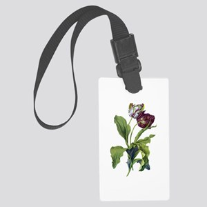 Tulips Drawn From Nature Large Luggage Tag