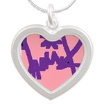 Traci K Designer collection Silver Heart Necklace
