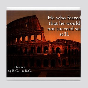 He Who Feared - Horace Tile Coaster