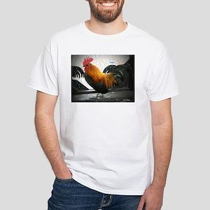 Bantam Rooster White T-Shirt