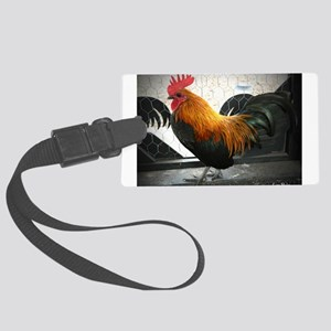 Bantam Rooster Large Luggage Tag