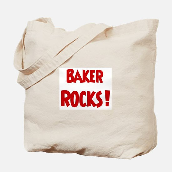 Baker Rocks Tote Bag