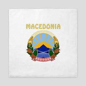 Macedonia Coat of arms Queen Duvet