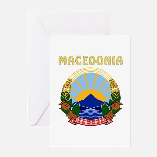 Macedonia Coat of arms Greeting Card