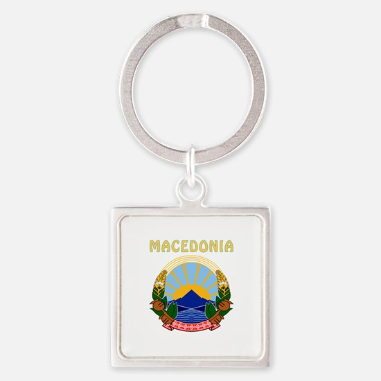 Macedonia Coat of arms Square Keychain