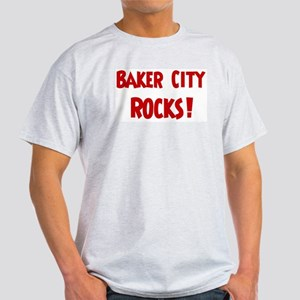 Baker City Rocks Ash Grey T-Shirt