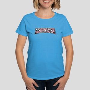 Lacrosse Pink Camo Women's Dark T-Shirt