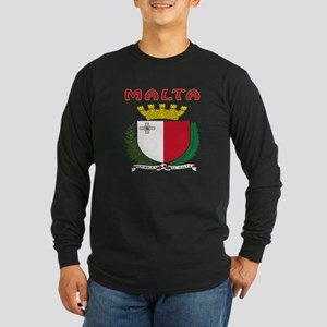 Malta Coat of arms Long Sleeve Dark T-Shirt
