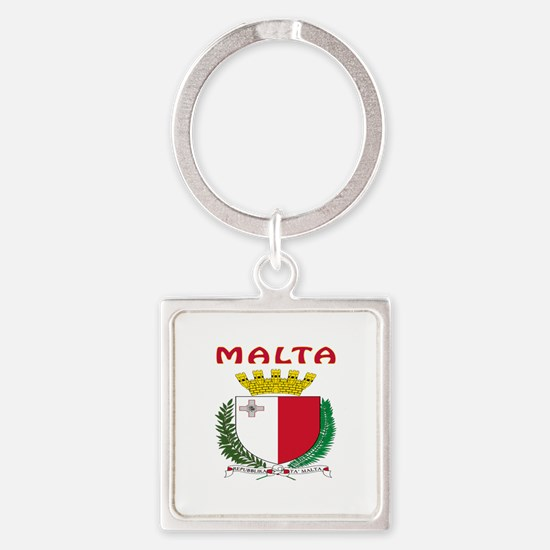 Malta Coat of arms Square Keychain