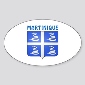 Martinique Coat of arms Sticker (Oval)