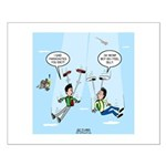Pair-a-Shoes vs. Parachute Small Poster