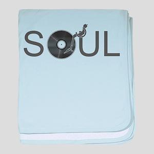 Soul Music Vinyl baby blanket