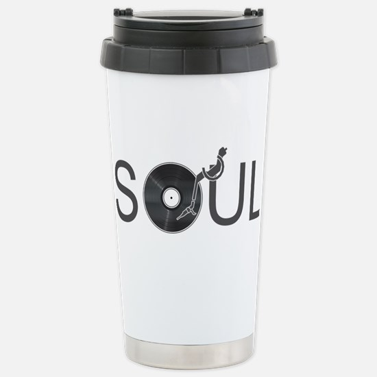 Soul Music Vinyl Stainless Steel Travel Mug