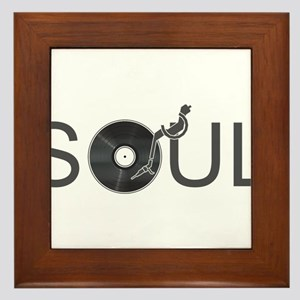 Soul Music Vinyl Framed Tile