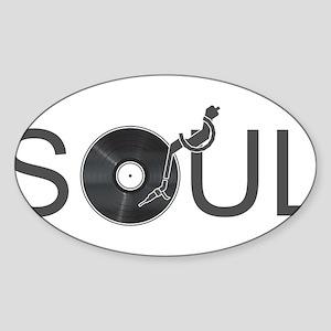 Soul Music Vinyl Sticker (Oval)
