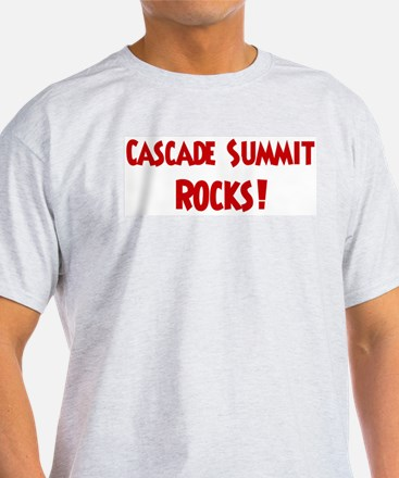 Cascade Summit Rocks Ash Grey T-Shirt